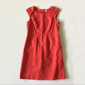 Merona Red Orange A-line Cap Sleeve Dress Size 14
